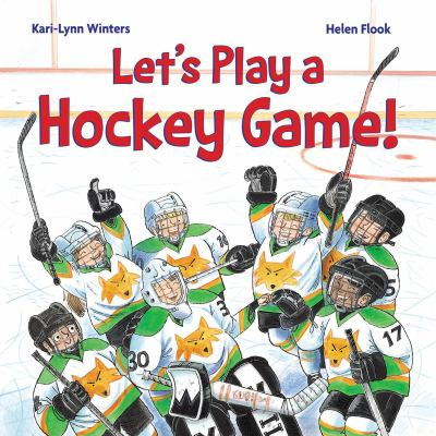 Let's play a hockey game! Book cover