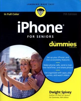 iPhone for seniors for dummies Book cover
